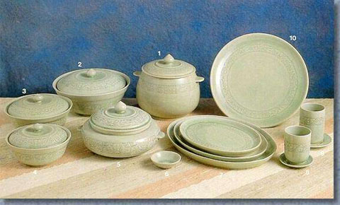 Celadon Tableware, Dinner Set