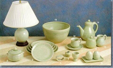 Celadon Tableware, Dinner Set