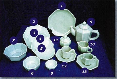 Celadon Octangular Dinner Set