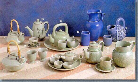 Celadon Tableware, Tea Set