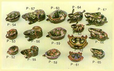 Lacquerware - Boxes (Pig, Frog, Turtle, Crab, Rabbit)