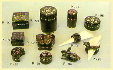 Lacquerware - Boxes (Mushroom, Butterfly), Napkin Rings