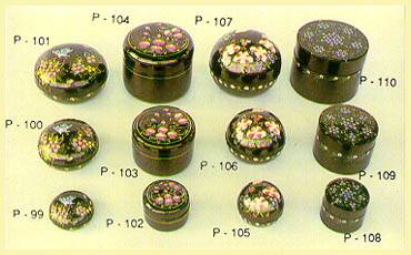 Lacquerware - Boxes (Round Cylindrical)
