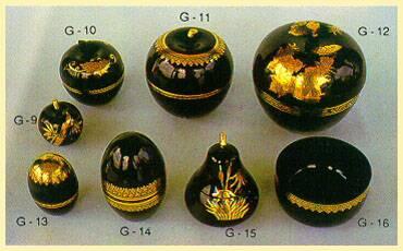 Lacquerware - Boxes (Fruit Shaped)
