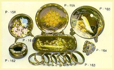 Lacquerware - Show Plates, Tray, Ashtray, Bangles