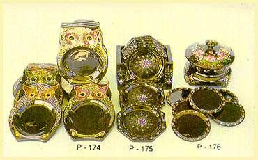 Lacquerware - Coasters (Owl)
