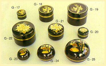 Lacquerware - Boxes (Round Shaped)