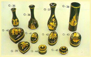 Lacquerware - Vases, Boxes (Heart Shaped, Oval)