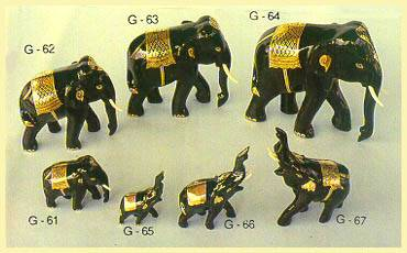 Lacquerware - Elephant Figurines