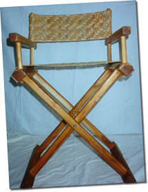 Teak Polo Chair with Reed